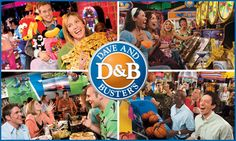 Dave and Buster's---eat, play! My husband (Scott) loves this place