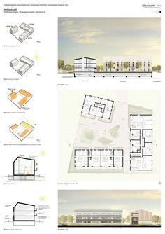 Rang Garstedter Dreieck Ost…competitionline - New Sites Presentation Board Design, Architecture Presentation Board, Project Presentation, Architectural Presentation, Architectural Models, Architecture Panel, Concept Architecture, Architecture Design, Architecture Drawings