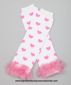 Baby Leg Warmers White & Pink Hearts One Size Fits by Petunia Baptism Headband, Newborn Headbands, 1st Birthday Hats, Valentines Day Baby, Baby Leg Warmers, Baby Bracelet, Girl Hair Bows, Cheer Bows, Baby Bows