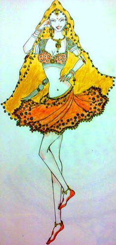 Bollywood Dance inspired  {Madhuri-Choli ke peeche}