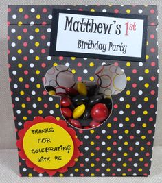 This is great because it's candy Mickey 1st Birthdays, Mickey Mouse Bday, 2nd Birthday Parties, Birthday Ideas, Party Themes, Party Ideas, Partying Hard, Inspiration For Kids, Party Entertainment