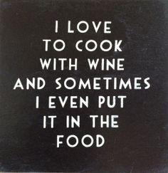 I love to cook.... | Spreuken | Stoer en Sfeer