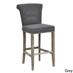 @Overstock.com - Rafa Barstool - Add a comfy touch to your kitchen counter or home bar area with this tufted barstool. It features an armless design with button-tufting on its back and nail-head trim around its seat for added beauty. It has a sturdy birch frame for durability. http://www.overstock.com/Home-Garden/Rafa-Barstool/7649709/product.html?CID=214117 $276.99