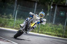 New 2015 Supermoto Husqvarna - Custom Motorcycles & Classic Motorcycles - BikeGlam Street Legal Dirt Bike, Street Bikes, Moto Bike, Motorcycle Art, Cool Motorcycles, Vintage Motorcycles, 2015 Indian Scout, Motocross Bikes, Motocross Action