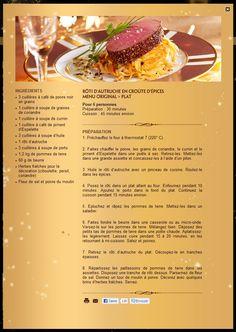 RECETTE - Rôti d'autruche en croûte d'épices. Téléchargez la recette complète ici : https://docs.google.com/open?id=0B_S88OVRJnogZjFadXRiRU82a0k