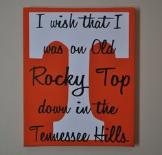Rocky Top Tennessee Canvas by customvinylbydesign on Etsy, $20.00