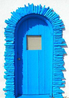 doors, blue