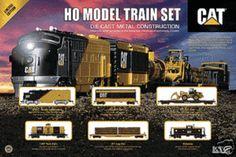 model train sets | HO Scale - CATERPILLAR LOGGING CAT TRAIN SET RTR - RARE