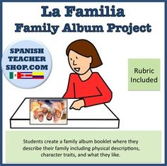 Album de Familia / Family Album Project for Family Vocab Unit This is an editable Powerpoint document, which means you can adapt it to your specific needs! Students write a page describing the following: -Yo (A page about themselves) -Familia ( A page about their