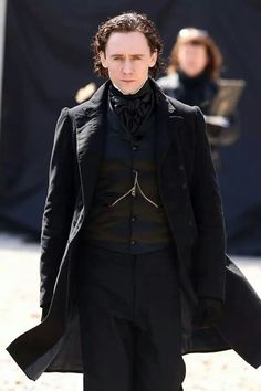 Tom on set of Crimson Peak