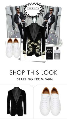 """These Days [New]"" by deemonk ❤ liked on Polyvore featuring BOSS Black, Marc Jacobs, Gucci, men's fashion and menswear"