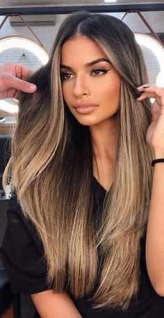 Blonde Hair Looks, Brown Blonde Hair, Blonde Balayage Highlights On Dark Hair, Brownish Blonde Hair Color, Blonde For Dark Skin, Ombre On Dark Hair, Asians With Blonde Hair, Brown Hair On Brown Skin, Lighter Brown Hair Color