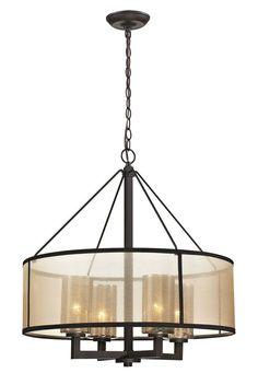 ELK Lighting 57027/4 Diffusion 4-Light Chandelier, Oil Rubbed Bronze