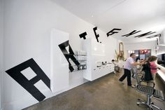 Vince Frost -Arte & Frank, identity and interior design for a hair salon.
