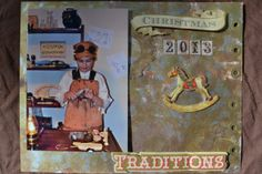 Steampunk Christmas Scrapbook Pages