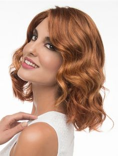 This beautiful wig is a loosely waved, long bob that's glamorous and ready to wear. The hand-tied lace in the front creates the illusion of your own hairline and allows you to style the bang off of the face. The full hand-tied monofilament top lets you the change the part, enhancing the versatility. You can have a professional add a bang or side fringe. This style showcases the best finger waves and beach waves!