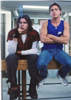 Judd Nelson and Emilio Estevez in 'The Breakfast Club'