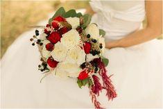 festive wedding flowers BRIDE GROOM, image by Gael Sacre