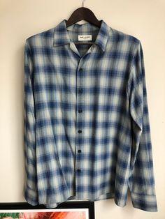 cdd0ef4aa7e Saint Laurent Paris Saint Laurent Paris FW14 Viscose Flannel Shirt Size US M  / EU 48