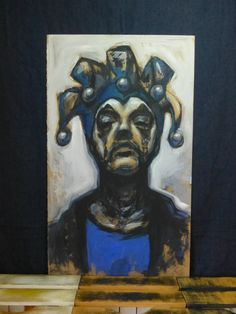 Self portrait on fibreboard 61 X 103 cm by FruitOnFurniture on Etsy