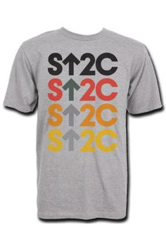 Stand Up to Cancer Mens SU2C Graded Logo Grey Short Sleeve T-Shirt