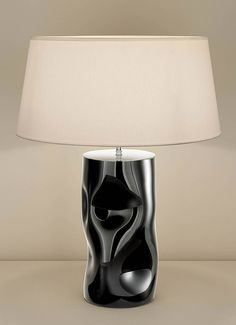 Stunning collection of designer furniture & homeware, designer lighting, accessories and luxury interior design gifts from our professional interior designers. Amazing Store, Black Table Lamps, Lighting Solutions, Black Glass, Blessing, Glass Art, Houses, Shapes, Touch