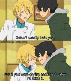 Anime: My little monster. this is how I feel towards my siblings