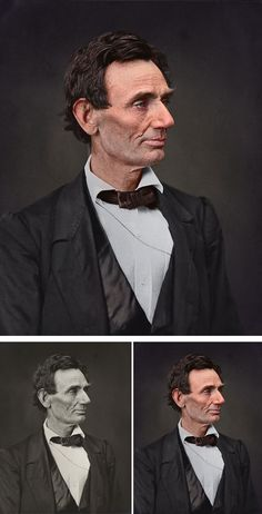Abraham Lincoln - Artist Colorizes Old Black & White Photos Making History Come To Life