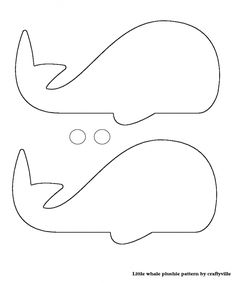 free pattern for making stuffed whale - Google Search
