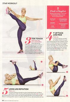 Pink's workout