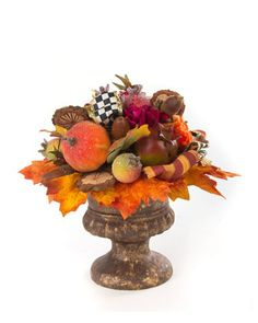 Autumn Harvest Nosegay by MacKenzie-Childs at Horchow. Fall Home Decor, Autumn Home, Autumn Fall, Nosegay, Fall Dinner, Fall Projects, Pumpkin Decorating, Holiday Decorating, Fall Harvest