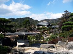 The garden of the Mori Family in Hofu City, Yamaguchi Prefecture.