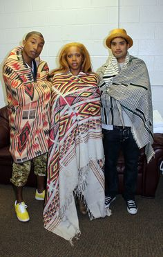 Pharrell Williams, Erykah Badu and Chad Hugo.