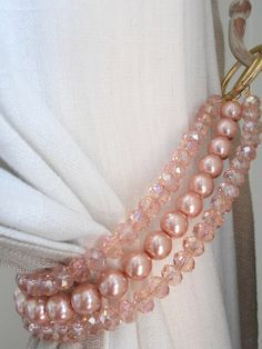 Pink crystals and glass pearls decorative by MilanChicChandeliers