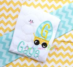 Easter Bunny Egg Wagon Embroidered Shirt  Easter by smallwonders00, $22.00