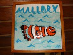 Footprint Ceramic Tile - Nemo Clown Fish