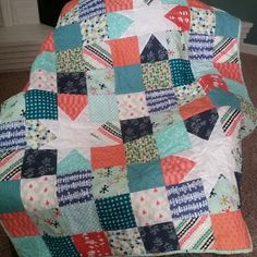 Cece's quilt. Used a quilt by V Christenson for inspiration.