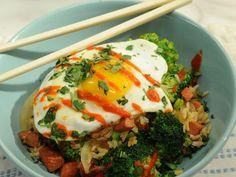 Hot Dog Fried Rice Recipe : Katie Lee : Food Network The Kitchen Hot Dog Recipes, Top Recipes, Rice Recipes, Asian Recipes, Chicken Recipes, Steak Dinner Recipes, Easy Dinner Recipes, Kitchen Recipes, Rice