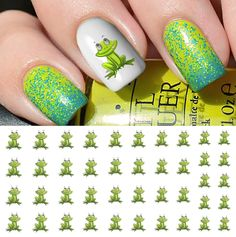 Frog Nail Art Waterslide Decals - Salon Quality! #MoonSugarDecals