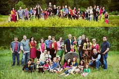 Great large family outfits and posing  credit: www.simplicityphotography.com