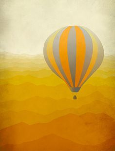 Hot air balloon print via etsy