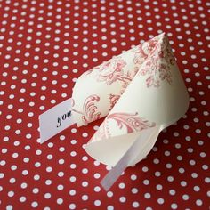 Paper Fortune Cookies with love notes inside