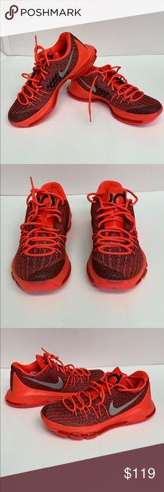 722344a6e134 Nike Men s KD Size 8 Basketball Shoes Nike Men s KD 8 Bright Crimson White