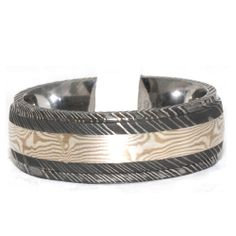 Two tone 8mm Damascus Man Ring. # w087707 Windy City Diamonds.  windycitydiamonds.com  #damascus #ring