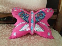 Butterfly cushion (for decoration only) can be personalized as shown.
