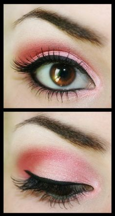 Pink eye makeup by veronica.fariaszambrano