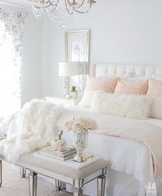 Master Bedroom Updates For Fall & Winter - Summer Adams - Bedroom inspirations - Cute Bedroom Ideas, Girl Bedroom Designs, Room Ideas Bedroom, Small Room Bedroom, Master Bedroom Design, Dream Bedroom, Home Decor Bedroom, Small Rooms, Bedroom Furniture