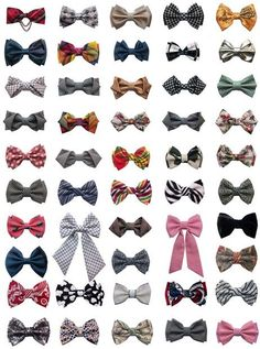 LOVE BOW TIES!  I have a weird obsession with bow ties :)