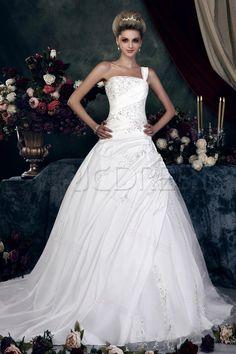 Gorgeous A-Line/Princess One-Shoulder Sweetheart Appliques Wedding Dress Unique Wedding Dresses- ericdress.com 10075947
