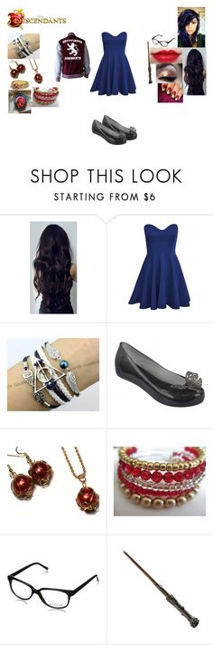"""Heather Potter-Daughter of James and Lilly Potter and sister of Harry Potter"" by maxinehearts ❤ liked on Polyvore featuring Melissa, Alex and Ani, EyeFly, harrypotter, OC and Descendants"